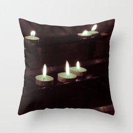 split toning candels Throw Pillow