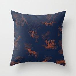 Zoology: Navy Throw Pillow