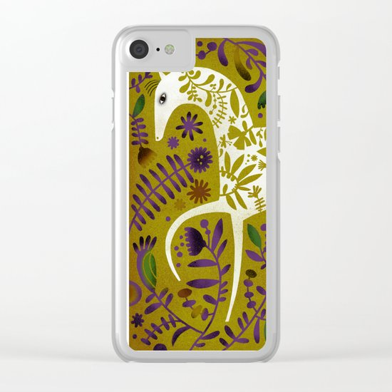 FLOWER HORSE Clear iPhone Case