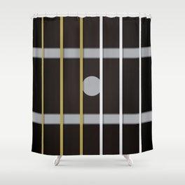 Guitar Neck Fretboard Music Black Shower Curtain