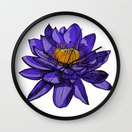 Lily the lotus Wall Clock