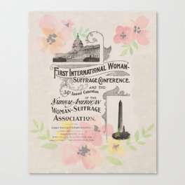 First International Woman Suffrage Conference - 1902 Canvas Print