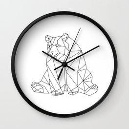 Geometric Bear Wall Clock