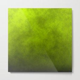 Slime Green Vaporized Neon Ectoplasm Fog Metal Print
