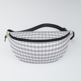 Pantone Lilac Gray Blurred Horizontal Lines Symmetrical Pattern Fanny Pack
