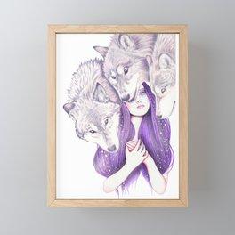Wolf Pack Framed Mini Art Print