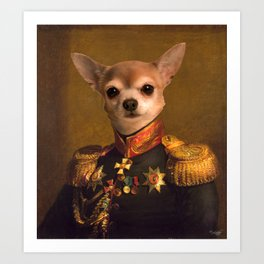 Chiwawa General portrait | Cute Kawaii Art Print