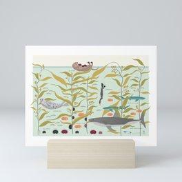Kelp forest Mini Art Print