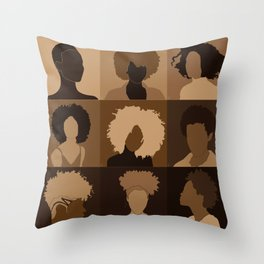 FOR BROWN GIRLS COLLECTION COLLAGE Throw Pillow