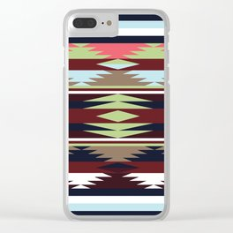 American Native Pattern No. 20 Clear iPhone Case