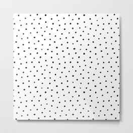 Polka Dots in Love Metal Print