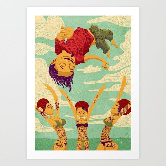 Tapete Voador Art Print