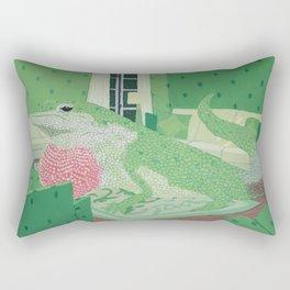 Green Anole Lizard Rectangular Pillow