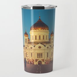 Cathedral of Christ the Savior in Moscow, Russia Travel Mug