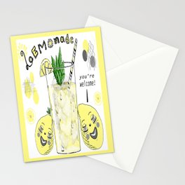 You're Welcome, Love, The Lemons Stationery Cards