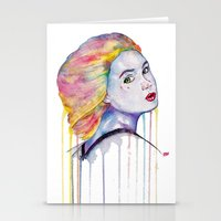 karen Stationery Cards featuring Karen Gillan  by Jeremy Buckley illustration