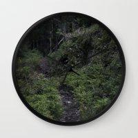 swedish Wall Clocks featuring Swedish forest by Emelie Johansson