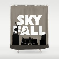 skyfall Shower Curtains featuring SKYFALL by Vector Vectoria