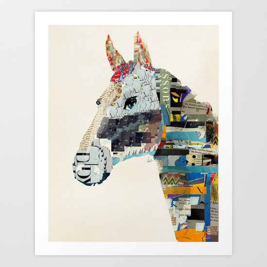 the mod horse Art Print