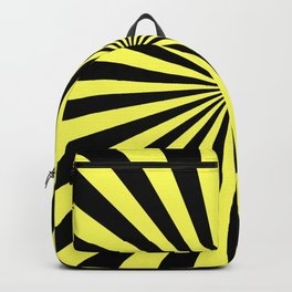 Starburst (Black & Yellow Pattern) Backpack