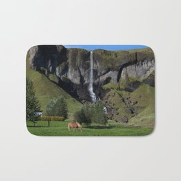 Horse in Iceland Bath Mat
