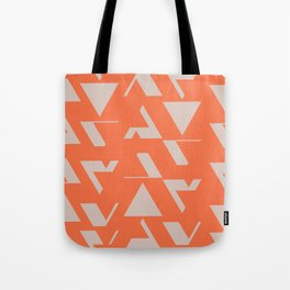 Orange Triangles Tote Bag
