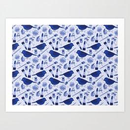 Birds in Winter Art Print