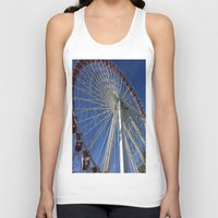 ferris wheel Tank Tops featuring Ferris Wheel by Blue Lightning Creative