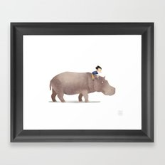 Wild Adventure - Hippo Framed Art Print