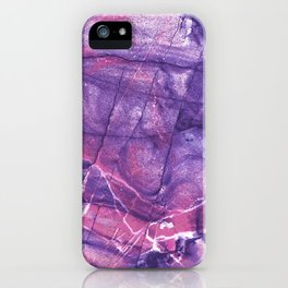 Smokey Ultra Violet and Pink Marble iPhone Case