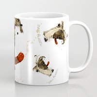 jack russell Mugs featuring Jack Russell by Ariadna
