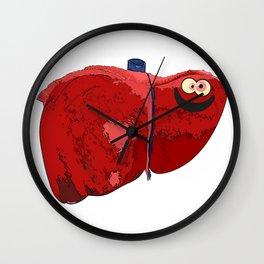 Happy Liver Wall Clock