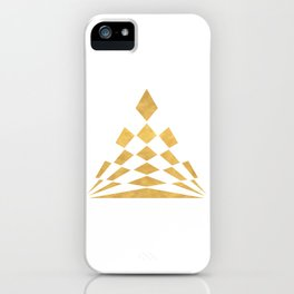 CHECKERBOARD ABSTRACT PYRAMID sacred geometry iPhone Case