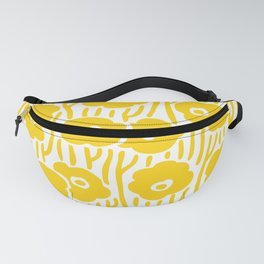Mid Century Modern Wild Flowers Yellow Fanny Pack