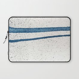 Parallel Universe [horizontal]: a pretty, minimal, abstract piece in lines of vibrant blue and white Laptop Sleeve