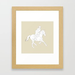 Eventing in Tan Framed Art Print