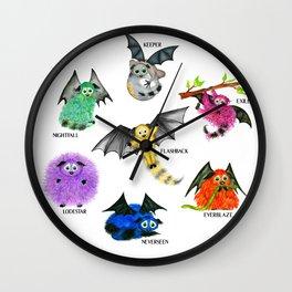 Seven Books, Seven Iggys Wall Clock
