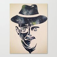 walter white Canvas Prints featuring Walter by Kayleigh Kirkpatrick