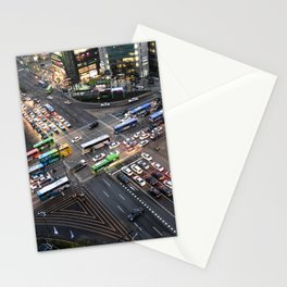 Gangnam at Rush Hour Stationery Cards