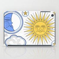 sun and moon iPad Cases featuring Vintage Sun and Moon by Petya Hadjieva (ragerabbit)