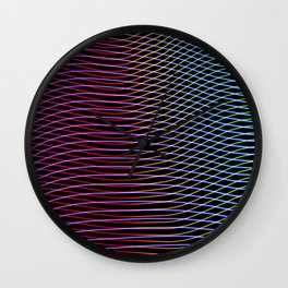 lines and patterns wing light painting Wall Clock