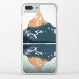 Mountain Sunrise Clear iPhone Case