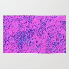Textured Pink And Blue Rug