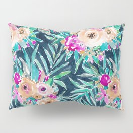 SO CASUAL Dark Tropical Palm Floral Pillow Sham