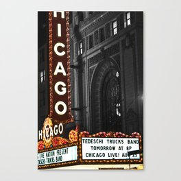 Historic Chicago Theatre Canvas Print