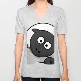 Cartoon Cute Sheep Unisex V-Neck