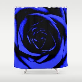 Blue Rose : Pretty Flowers Shower Curtain