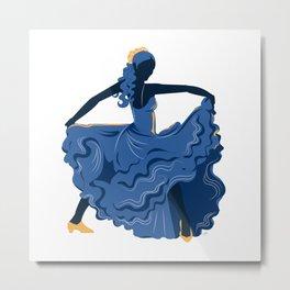 Flamenco Dancer 1 Metal Print