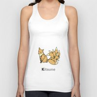 kitsune Tank Tops featuring Kitsune by James Courtney-Prior