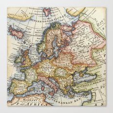 Vintage Maps Canvas Print